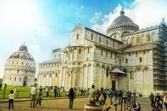 Cathedral and baptistery of Pisa, Italy Royalty Free Stock Image