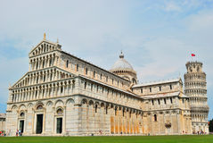 Cathedral, Baptistery and Tower of Pisa Royalty Free Stock Photography