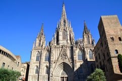 Cathedral of Barcelona. View of Cathedral of Barcelona, Spain Stock Photography