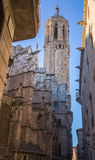 The Cathedral of Barcelona Stock Images