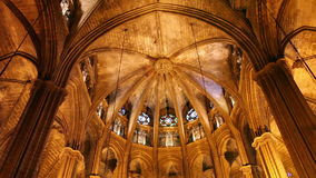 Cathedral in Barcelona, Catalonia, Spain Royalty Free Stock Photos