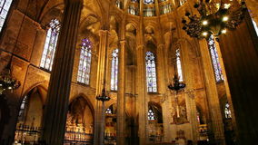 Cathedral in Barcelona, Catalonia, Spain Royalty Free Stock Image