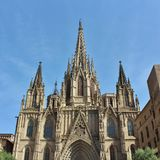 Cathedral of Barcelona Stock Image