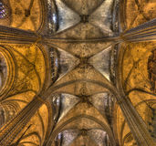 Cathedral of Barcelona Stock Photography