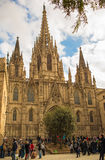 Cathedral of Barcelona Stock Photos