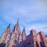 Cathedral in Barcelona Stock Image