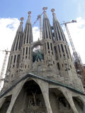 Cathedral in Barcelona. Sagrada Familia from my point of view stock photo
