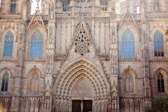 Cathedral of Barcelona Seu Seo Royalty Free Stock Images
