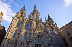 Cathedral of Barcelona, Spain Royalty Free Stock Images