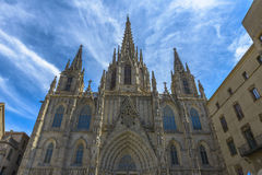 Cathedral in Barcelona, Spain Royalty Free Stock Photos