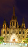 Cathedral  in  Barcelona, Spain Stock Photo