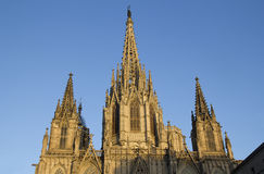 Cathedral of Barcelona, Spain Stock Image