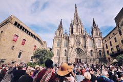 Cathedral of Barcelona Royalty Free Stock Image