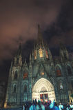 Cathedral of Barcelona, Spain at night Stock Photo