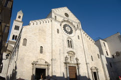 Cathedral In Bari. The bell tower and cathedral of st. Sabinus in the old town of Bari Royalty Free Stock Photography