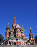 Cathedral of Basil Blessed in Moscow. On the Red Square Royalty Free Stock Photos