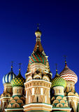 Cathedral of Basil Blessed in Moscow Stock Images