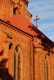 Cathedral Basilica. Detail  of Kaunas Cathedral Basilica in Lithuania Stock Photography