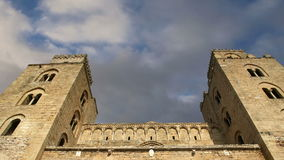 The Cathedral-Basilica of Cefalu, is a Roman Catholic church in Cefalu, Sicily, southern Italy stock footage