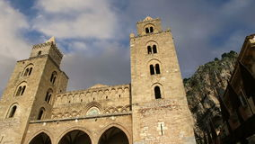 The Cathedral-Basilica of Cefalu, is a Roman Catholic church in Cefalu, Sicily, southern Italy stock video