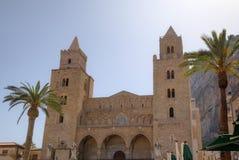 Cathedral-Basilica of Cefalu, Sicilia, Italy Stock Photos