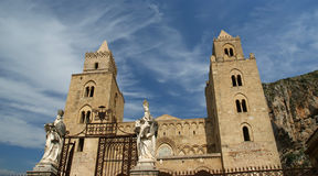 The Cathedral-Basilica of Cefalu, Sicily, Italy Stock Photography
