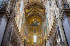 Cathedral Basilica of Cefalu, Sicily. Italy. Stock Images