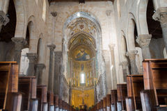 Cathedral Basilica of Cefalu, Sicily. Italy. Royalty Free Stock Images