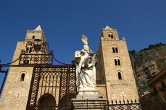 The Cathedral-Basilica of Cefalu, Sicily, southern Italy. Royalty Free Stock Images