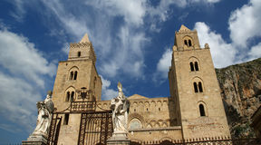 The Cathedral-Basilica of Cefalu, Sicily, southern Italy. Stock Photography