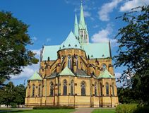 Cathedral Basilica in Lodz. Church the Lodz largest basilica Stanislaus Kostka Royalty Free Stock Image