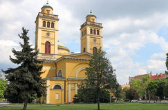 The Cathedral basilica of Eger Hungary. Landmark Stock Photos