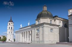 Free Cathedral Basilica Of St. Stanislaus And St. Vladislav With The Bell Tower In Summer Sunny Day, Vilnius, Lithuania Stock Photography - 164386722