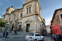 Cathedral Basilica of Our Lady of Peace. Plaza Murillo. La Paz. Bolivia Stock Photos
