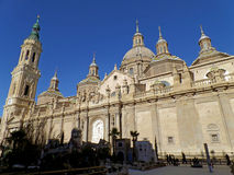 Cathedral-Basilica of Our Lady of the Pillar, Stunning Landmark of Zaragoza Royalty Free Stock Photo