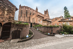 Cathedral Basilica of Saint Cecilia, in Albi, France. Cathedral Basilica of Saint Cecilia, claimed to be the largest brick building in the world, it's located Royalty Free Stock Image