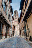 Cathedral Basilica of Saint Cecilia, in Albi, France. Cathedral Basilica of Saint Cecilia, claimed to be the largest brick building in the world, it's located Royalty Free Stock Images