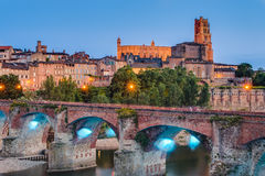 Cathedral Basilica of Saint Cecilia, in Albi, France. Cathedral Basilica of Saint Cecilia, claimed to be the largest brick building in the world, it's located Stock Photo