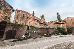 Cathedral Basilica of Saint Cecilia, in Albi, France. Cathedral Basilica of Saint Cecilia, claimed to be the largest brick building in the world, it's located Stock Images