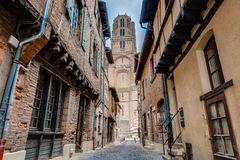 Cathedral Basilica of Saint Cecilia, in Albi, France Stock Images