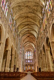 Cathedral Basilica of Saint Denis Nave Interior Royalty Free Stock Photo