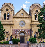 Cathedral Basilica of Saint Francis of Assisi in Santa Fe, New M stock photos