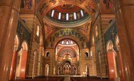 Cathedral Basilica of Saint Louis. The Cathedral Basilica of Saint Louis on Lindell Boulevard in St. Louis, Missouri stock photo