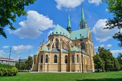 Cathedral Basilica of Saint. Stanislaus Kostka in Lodz Stock Image