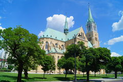 Cathedral Basilica of Saint. Stanislaus Kostka in Lodz Stock Photography