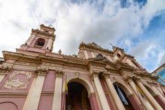 Cathedral Basilica of Salta - Salta, Argentina. Cathedral Basilica of Salta in Salta, Argentina stock photography