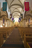 Cathedral Basilica of St-Francis. Interior view of the Cathedral Basilica of St-Francis in Santa Fe Stock Image