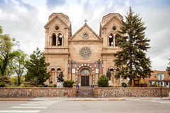 Cathedral Basilica of St. Francis of Assisi, Cathedral Place, Sa. Nta Fe, Nowy Meksyk Royalty Free Stock Photography