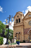 The Cathedral Basilica of St. Francis of Assisi. In Santa Fe, New Mexico, USA Stock Images