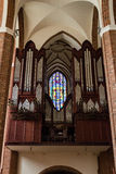 Cathedral Basilica of St. James the Apostle, Szczecin - Organs. POLAND, SZCZECIN - 30 JUN 2015: Cathedral Basilica of St. James the Apostle, Szczecin - Organs stock photo